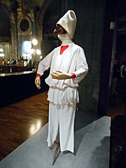 """""""Punchinello"""" - costume based on Pablo Picasso's sketch for """"Pulcinella"""" by Igor Stravinsky (Paris, 1920) - Royal San Carlo Theatre, Opera and Ballet Season 1987-88 - """"MeMus""""=Memory and Music Museum - Royal San Carlo Theatre in Naples (Carlo Raso) Tags: pablopicasso igorstravinsky pulcinella memus naples sancarlotheatre opera music punchinello"""