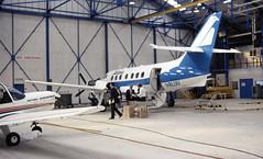I-BLUU. Aliblu British Aerospace Jetstream 3109 (Ayronautica) Tags: 727 hangar turboprop aviation 1987 june ayronautica scanned pik egpk prestwick jetstream31 britishaerospacejetstream3109 alibluairways ibluu