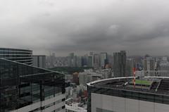 Rain Clouds over Tokyo (hidesax) Tags: harumi triton square cloudy sky skyline cityscape tokyotower tokyo japan hidesax leica x vario rainycloudsovertokyo