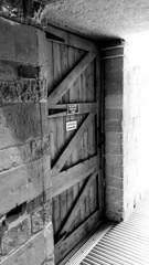 Dogwood week 30 (I line photography) Tags: 52weekchallenge dogwood52 door shapes oakdoor wood stone yorkshirestone doorhandle publicnotice