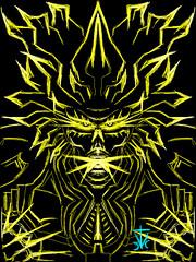 Space Monkeys Rage (RedRoofArt) Tags: drawingbox art drawing saiyan super yellow black power up fantasy dbz dragon ball z