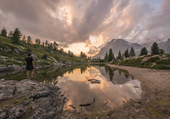 A photo by Ales Krivec. unsplash.com/photos/OmelL9tVVno (resourcehfh) Tags: lakedolomiteslimedesmountainalpsitalylandscapeblueitalylake dolomites limedes mountain alps italy landscape blue sunset sky clouds panorama veneto averau pass falzarego mount beautiful summer travel sunrise view wood sun tourism europe scenic national rock scenery hiking peak alpine reflections nature green color lagazuoi natural light water holiday man male hiker hike sport