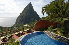 St. Lucia Ladera Resort (Peter Fritzenschaft) Tags: saint st bay wasser resort lucia piton caribbean marigot pitons karibik ladera ozean