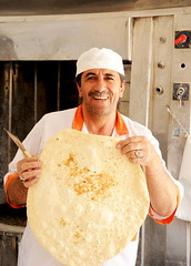 Happy baker and his creation in Kashan / Iran (ANJCI ALL OVER) Tags: iran middleeast persia ایران kashan islamicrepublicofiran جمهوریاسلامیایران
