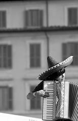 Peruvian Musician in Rome (simone_aramini) Tags: blackandwhite musician music portait beggar monocromatic ritratto biancoenero peruvian musicista streetmusician barrelorgan monocromatica musicist peruviano humany