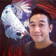 ภาพพิมพ์ปลากัดสีธงชาติไทย #Bangkok #Thailand #Fish #Art