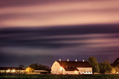 Waterman Farm at Dusk (Elliotphotos) Tags: sunset ohio cloud clouds barn university state dusk farm barns osu columbusohio farms elliot theohiostateuniversity waterman stormcloud stormclouds ohiostate ohiostateuniversity the gilfix elliotphotos watermanfarm elliotgilfix