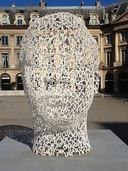 Irma's White Head (nlafferty) Tags: sculpture paris head whitehead juameplensa