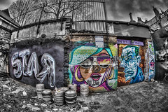 Brick Lane Graffiti Pop (D-W-J-S) Tags: brick london graffiti lane hdr eastlondon