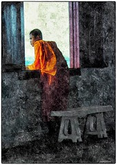 Ceci n'est pas un tableau (yvesgalland) Tags: bangkok creation wat phrakaew mosaïques
