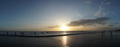 beach sunset panaroma (calvinyjj) Tags: ocean trip travel sunset sea sky bali color beach water indonesia fun surf stitch sony wideangle calm enjoy lanscape panaroma mirrorless
