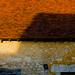 L'âme paysane s'éveille dans les odeurs de foin et dans la sueur du labeur. Un coucher de soleil peut passer inaperçu... tout comme il peut manifester des textures et des couleurs qui suscitent l'émerveillement. Ferme des Cabrioles, parc régional du Perche, Orne, région de Basse-Normandie, France.