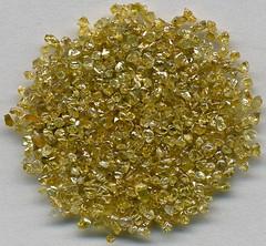 Diamonds (Zaire) 2 (James St. John) Tags: africa yellow diamonds crystals crystal native diamond mineral congo rough carbon element zaire