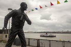 Pier Head, Liverpool (new folder) Tags: sculpture liverpool river publicart pierhead tommurphy bunting liverpoolbiennial rivermersey merseyferry captainwalker liverpoolbiennial2016