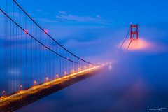 Mystic Towers (Wilson Lam {WLQ}) Tags: sanfrancisco california unitedstates goldengatebridge sutrotower southtower lowfog