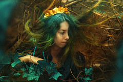 Forest Nymph (Moonless_Nigth_and_Melancholy) Tags: portrait woman art nature lady forest woods colours outdoor fairy fantasy land dreamy conceptual