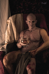Frankenstein (tim_asato) Tags: boy portrait man hot sexy male men jock pecs monster sex scary model legs wine muscle retrato makeup handsome hunk modelo trunk chico scar guapo abs copa calvo scars hombre bold vino monstruo piernas maquillaje masculino musculo cicatrices timasato lorealonso evgenykhovrin