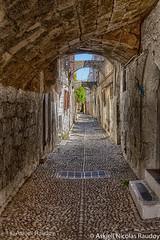 Narrow streets (Askjell's Photo) Tags: hellas medieval greece oldtown rodos rhodes rhodos middleage knightsofstjohn egeo aegeansea knightshospitaller rhodosoldtown askjell