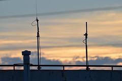 185/366 : Sunset Glow (hidesax) Tags: light sunset orange building rooftop japan clouds nikon glow pole sunsetglow saitama nikkor 80400mm ageo 365project f4556g 366project 185366 hidesax d800e 366project2016