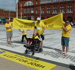 20160723 A Lift for Josh - Bridlington to Blackpool (blackpoolbeach) Tags: charity walk bridlington blackpool comedy carpet craig josh stairlift justgiving furniss promenade tower