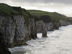View of the rock formations along the coast from Dunluce Castle ruins in Northern Ireland, UK (albatz) Tags: dunlucecastle museum northernireland uk view ocean rockformations