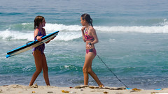 Boogie Board Meetup (Kevin MG) Tags: usa ca losangeles malibu zuma zumabeach beach ocean water sand girls adolescent cute pretty little young youth bikini boogieboard