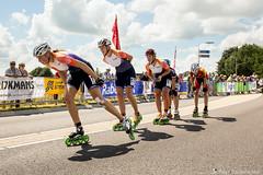 2016-07-30 EK Skeeleren Steenwijk (80a) (Peter Donderwinkel) Tags: ekskeeleren2016steenwijk inlineskating seniorladies junioraladies ek klimvansteenwijk schaatsennl kpn skeeleren outdoor sport event speed race canon