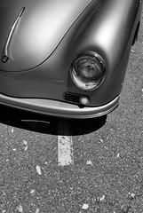 Autobahn 1954 II (autobahn66.com) Tags: auto blackandwhite classic car clouds vintage silver germany automobile fifties stuttgart convertible autobahn chrome german porsche oldtimer sportscar postwar lowperspective wirtschaftswunder nachkriegszeit kabrio