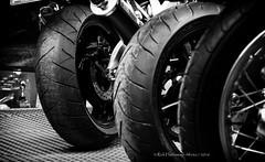 Tyring day at Beaulie (rhfo2o - rick hathaway photography) Tags: blackandwhite bw canon mono spokes wheels motorbikes beaulieu tyres slicks beaulieumotormuseum canoneos7d rhfo2o 07dw9686