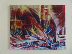 Holi festival leftovers. Acrylic abstract painting (pestinairina) Tags: painting abstract acrylic art astratto pittura arte moderna contemporanea colors