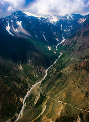 The Birth of a River' (njain73) Tags: satpura altitude chopper clouds flying forest glacier greenery hills himalayas mountains mountainscape mountaintop naturallight nepal river snow valley