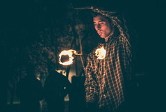 Nacin del Fuego (jotazelada) Tags: santiago stgo chile malabarismo fuego lightpainting streetart