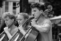 The cello band (jeangrgoire_marin) Tags: music cello street life classic