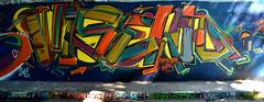 graffiti amsterdam (wojofoto) Tags: amsterdam graffiti streetart wojofoto wolfgangjosten nederland netherland holland amsterdamsebrug hof flevopark wisekid