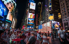 Diver-city (Heath Cajandig) Tags: new york times square diversity city night lights beautiful advertising billboards street photography