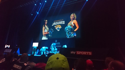 Jacksonville Jaguars cheerleaders. preform