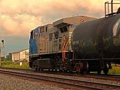 NS 4001 headed east at Brimfield Indiana (Matt Ditton) Tags: ns 4001 brimfield indiana