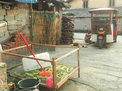 tuk tuk fixing & cucumbers copy (anwoody) Tags: approved xingping china guano people streetlife