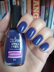 Noite africana - Colorama (Mari Hotz) Tags: colorama roxo azul esmalte nailpolish unha