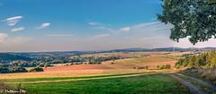 Panorama Mittelhessen (matthaeusotte) Tags: panorama mittelhessen hessen landschaft feld wiese 50mm sonne abend abendsonne