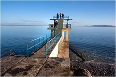 Blackrock Diving Platform (EoinGardiner) Tags: ireland sea sun galway evening bay platform sunny diving tourist burren