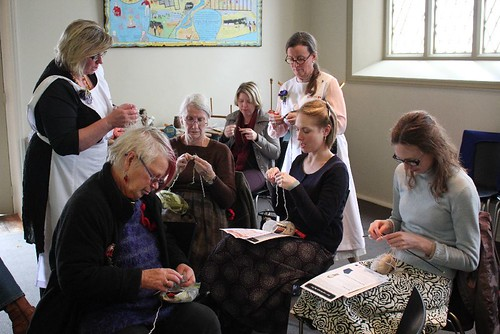 Knitting through the War workshop at Migration Museum