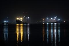 Docking (nic.o'shaughnessy) Tags: uk england reflection water night docks canon lights pier boat ship britain united kingdom hampshire eod southampton 70d