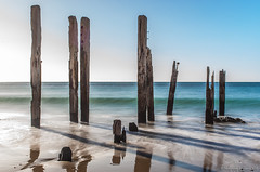 Port Willunga (Sharon Wills) Tags: beach water ruins waves oldjetty portwillunga