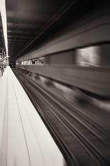 Train Tracks (Long Road Photography (formerly Aff)) Tags: bw white black lines station train lens town hall nikon focus track pov sydney platform railway fancy kit leading d90 18105mm