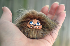 Wookie Micro Fluff (Scribble Dolls) Tags: cute art monster fur toy happy miniature starwars stuffed furry sweet handmade ooak critter small fluffy mini fluff softie fabric tiny stuffedanimal micro handpainted faux handsewn artdoll cloth creature chewie wookie chewbacca sewn scribbledolls