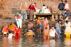 Taking a Bath (Gigin - NoDigital) Tags: boy people india man nature water river kid asia places varanasi geography gangesriver