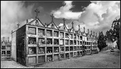 Cementerio (Fernando Forniés Gracia) Tags: bw españa blancoynegro cementerio paisaje galicia galiza nubes pontevedra hio nichos morrazo