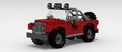 Jeep CJ (revised) (Tom.Netherton1) Tags: road city classic digital america truck vintage power lego jeep mud offroad 4x4 pov designer 4wd off tires american 1950s legos cj 1960s 1970s 1980s gp civilian povray lifted roader offroader gpw ldd