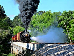 Steam Train TSR. (The Old Texan) Tags: railroad train steamengine texasstaterailroad
